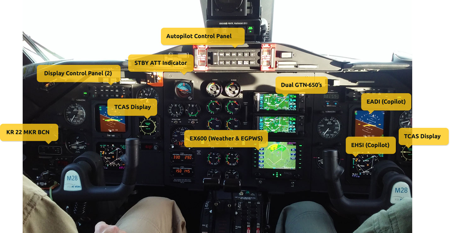 Interior And Cockpit M28 Aircraft Solydine Wiring Diagram Extended Navigational Capability Including Precision Gps Approaches